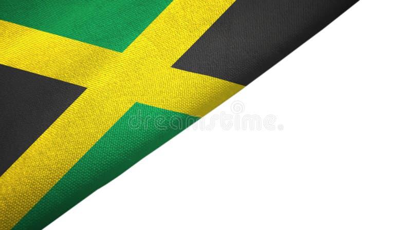Côté gauche de drapeau de la Jamaïque avec l'espace vide de copie illustration de vecteur