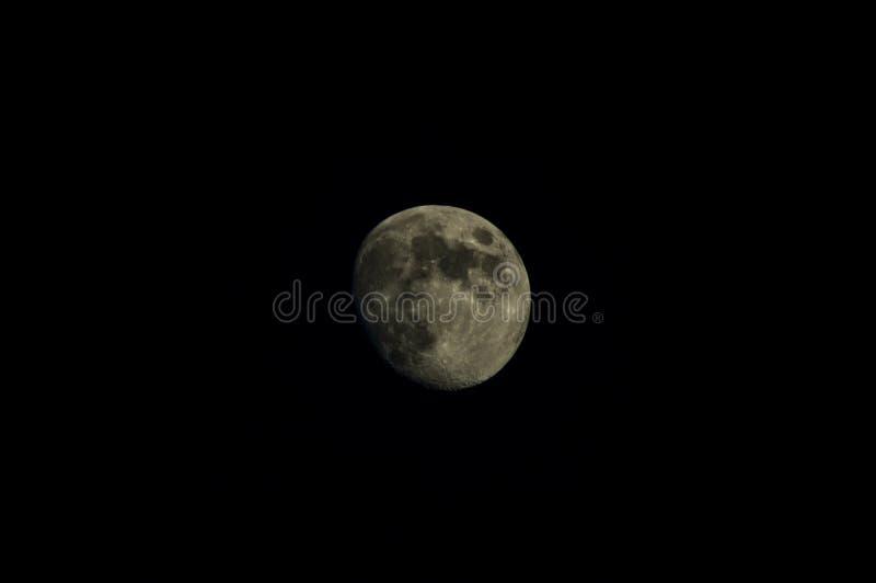Côté léger de la lune photographie stock libre de droits