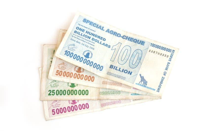 côté milliard de notes du dollar images stock