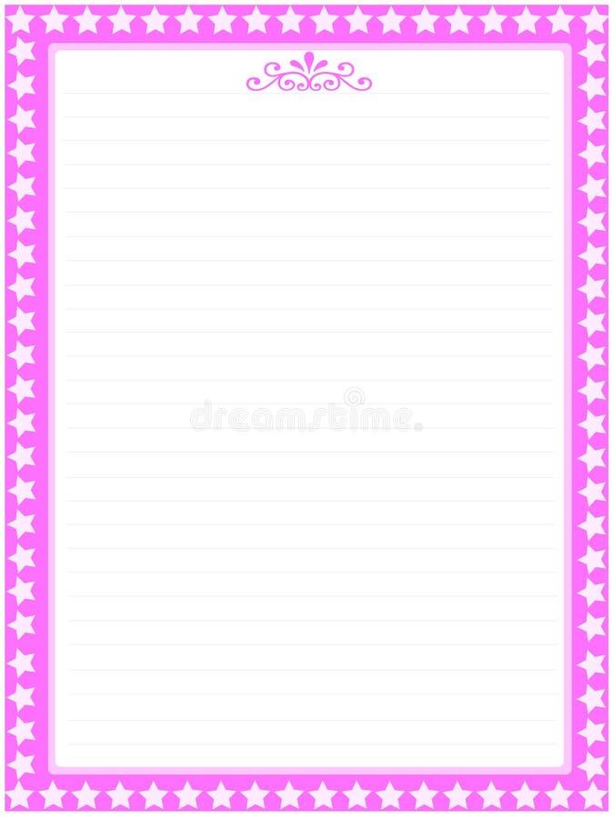 Côté rose 03 de papier de lettre illustration de vecteur