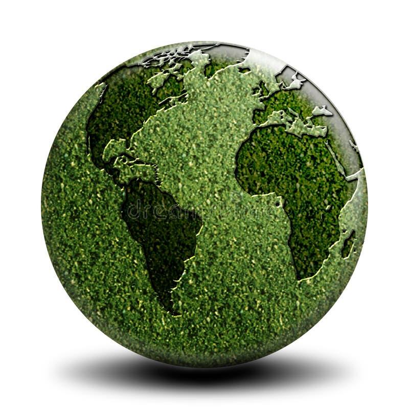 Côté vert A du monde illustration de vecteur