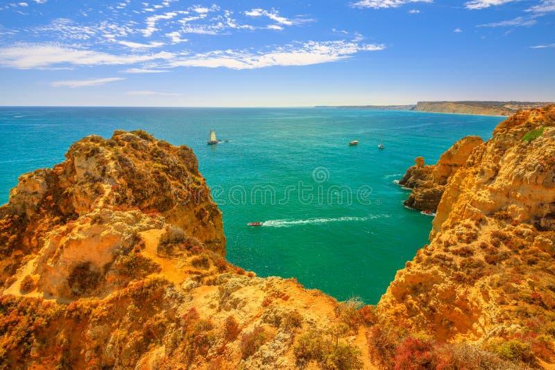 Côte Algarve de Lagos image libre de droits