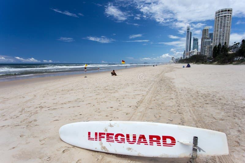 Côte Australie de Surf Board Gold de maître nageur photographie stock
