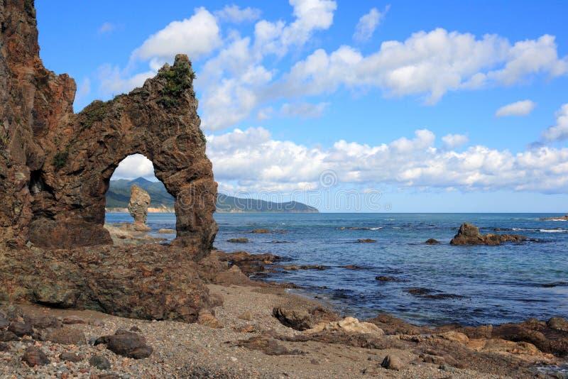 Côte d'île de Sakhaline photos stock