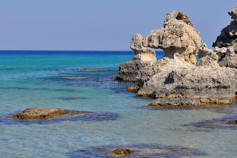 Côte d'île Rhodes, Grèce image stock