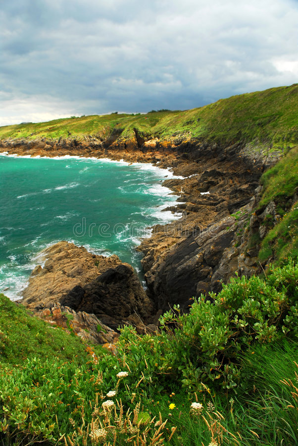 Côte de Brittany photos stock