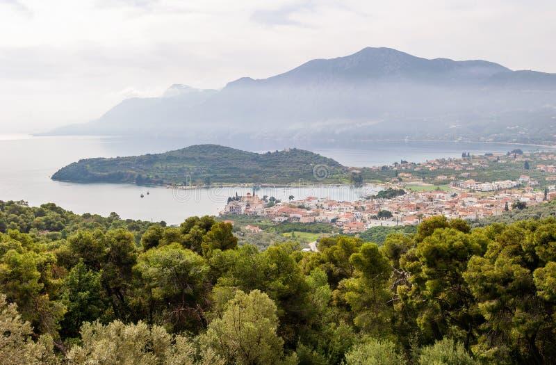 Côte de Grèce photo stock