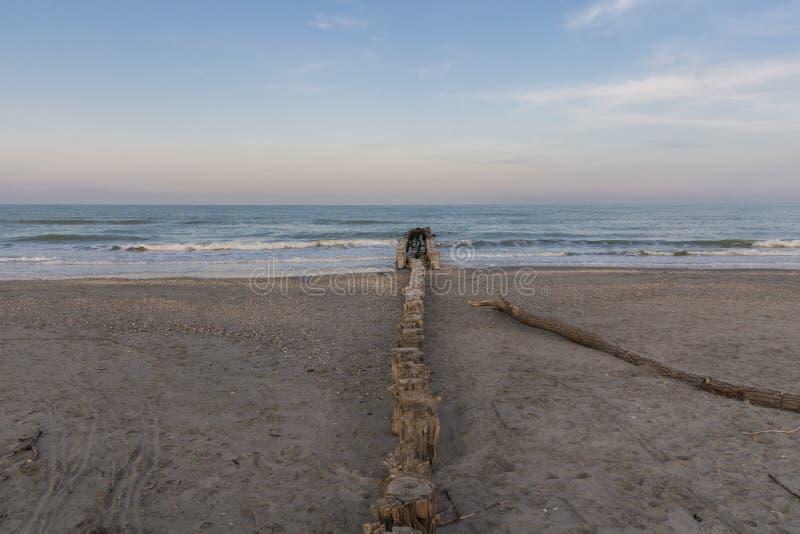 Côte de l'Adriatique de mer photo libre de droits