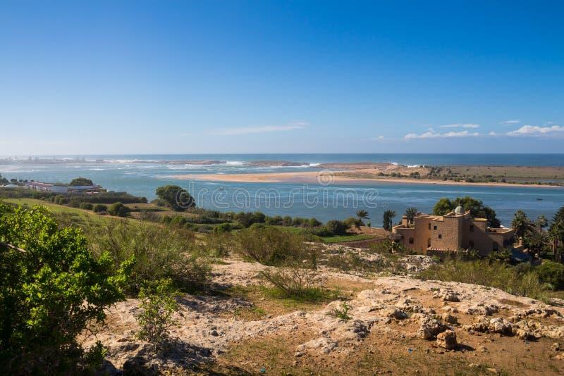 Côte de l'Océan Atlantique de Marocain, Oualidia images stock