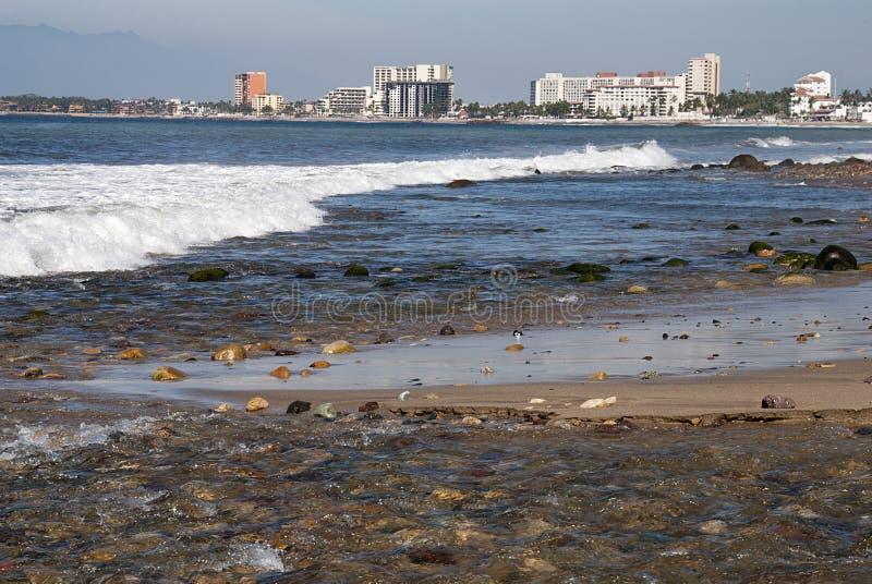 Côte de l'océan pacifique au Mexique image stock