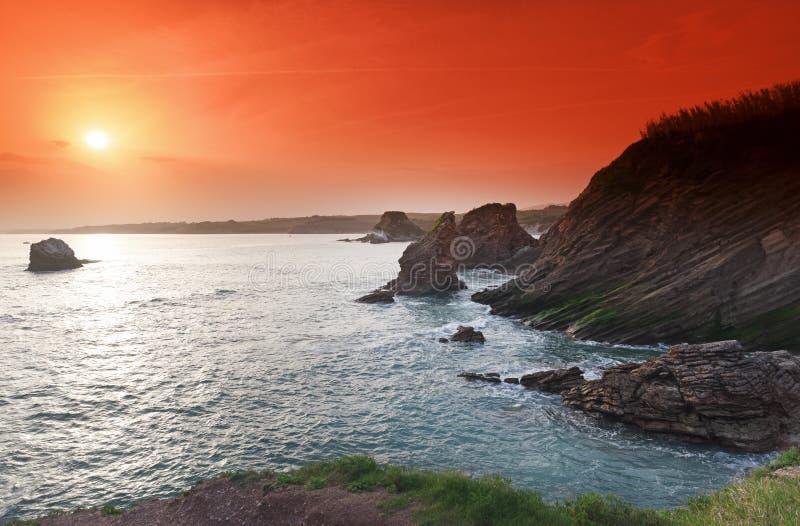 Côte de la corniche Basque images libres de droits