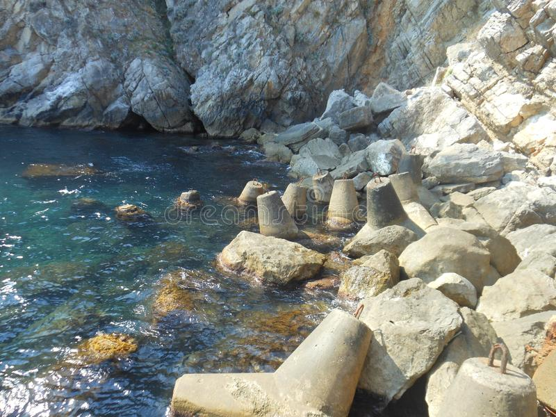 Côte de la Mer Noire photographie stock