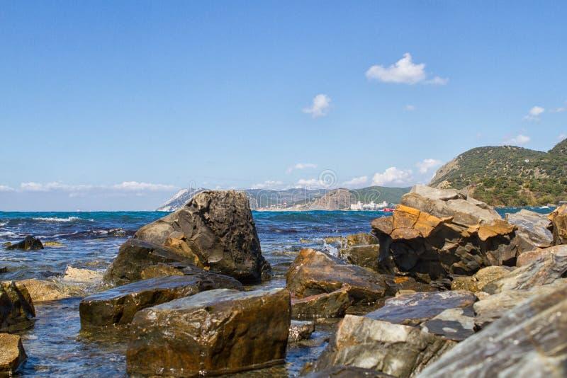 Côte de la Mer Noire de la Russie image libre de droits