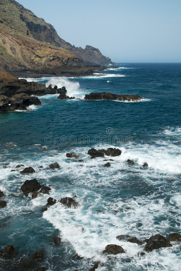 Côte de La Palma images stock
