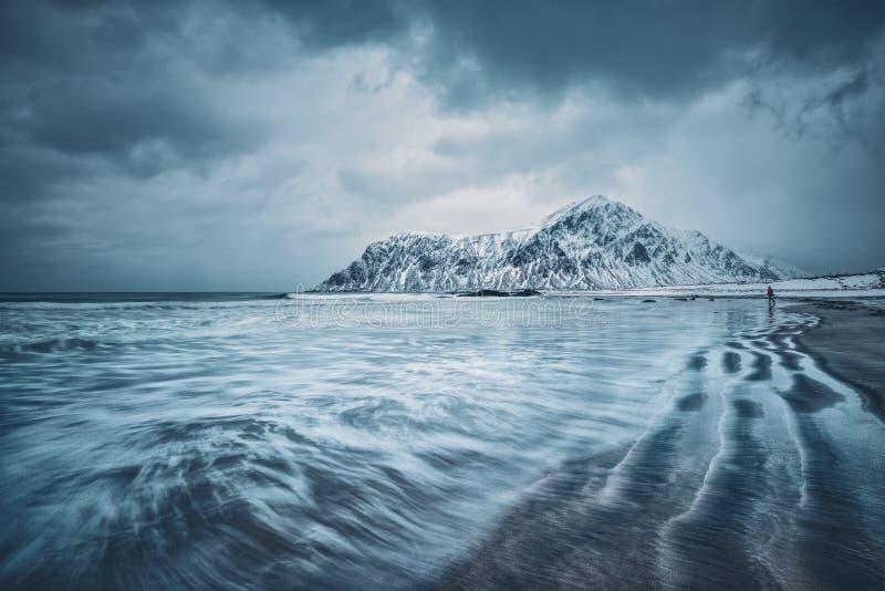 Côte de mer de Norvège photo libre de droits