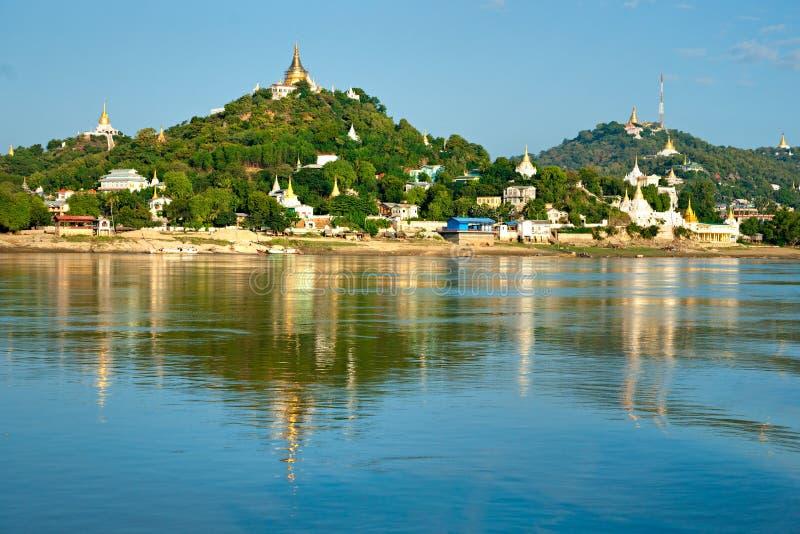 Côte de Sagaing, Mandalay, myanmar. image stock