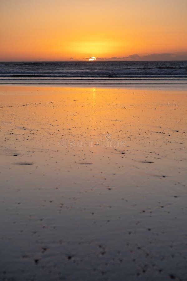 Côte de Sidi Kaouki, Maroc, Afrique Temps de coucher du soleil ville de ressac du wonderfull du Maroc photos libres de droits