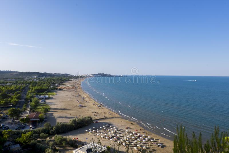 Côte de Vieste, Puglia, Italie photographie stock