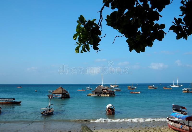 Côte de Zanzibar Tanzanie photo stock