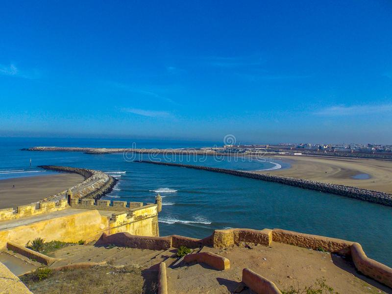 Côte du Maroc d'Essaouira image stock