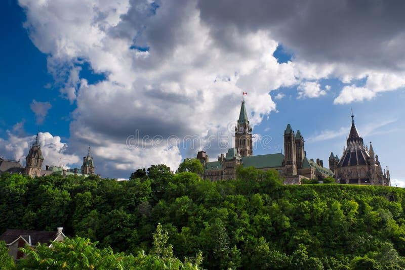 Côte du Parlement du Canada image libre de droits