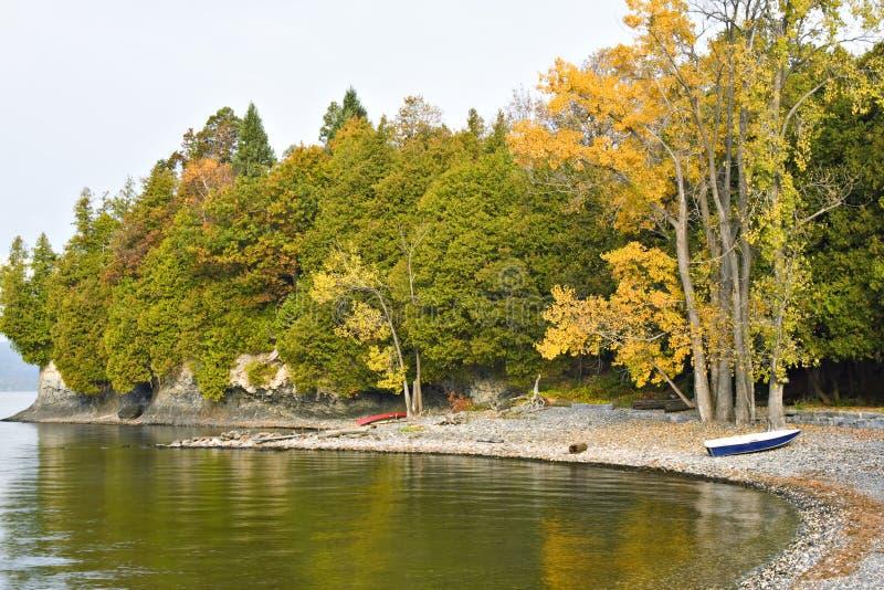 Côte du Vermontn de lac Champlain images libres de droits