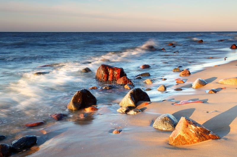 Côte en Baltique images stock