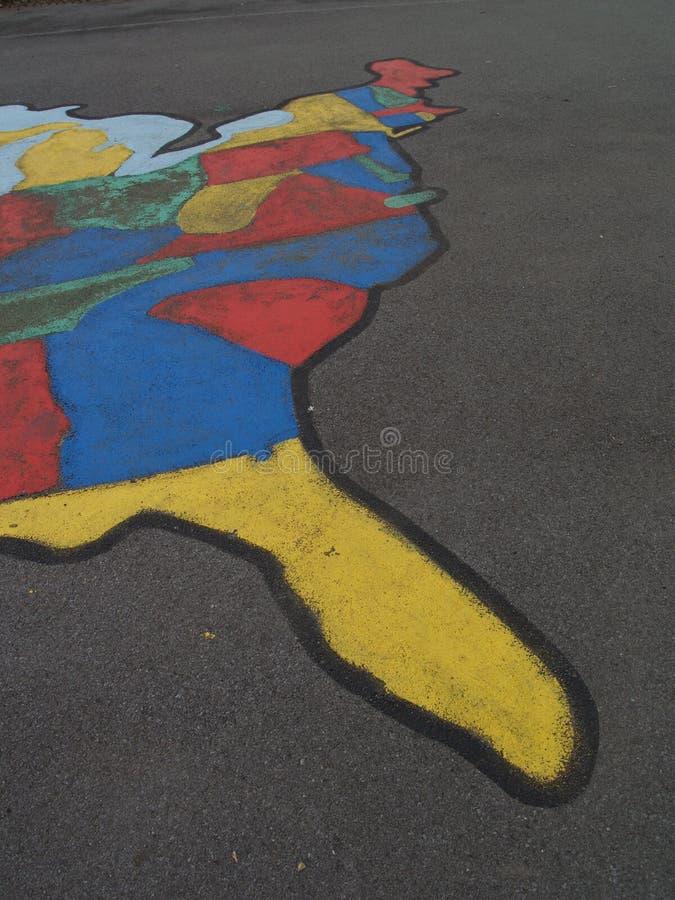 Côte Est peinte sur le trottoir images stock