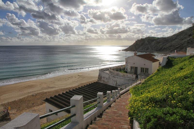 Côte et plage d'Algarve photographie stock libre de droits