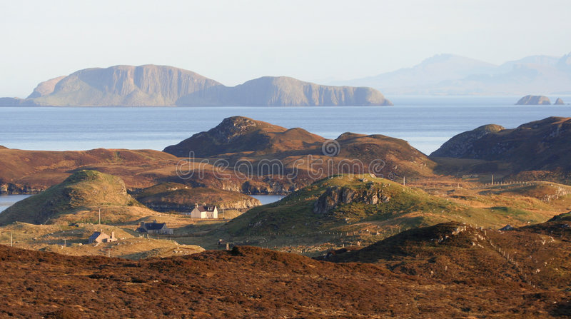 Côte Hebridean photographie stock
