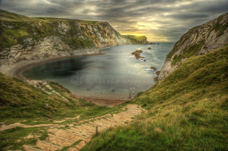 Côte jurassique Angleterre de site de l'UNESCO image stock