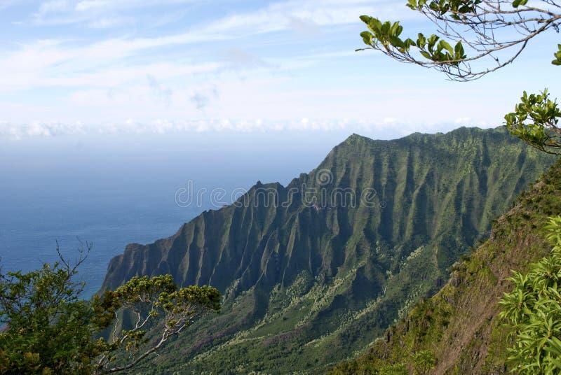 Côte Kauai Hawaï de Na Pali de vallée de Kalalau photographie stock libre de droits