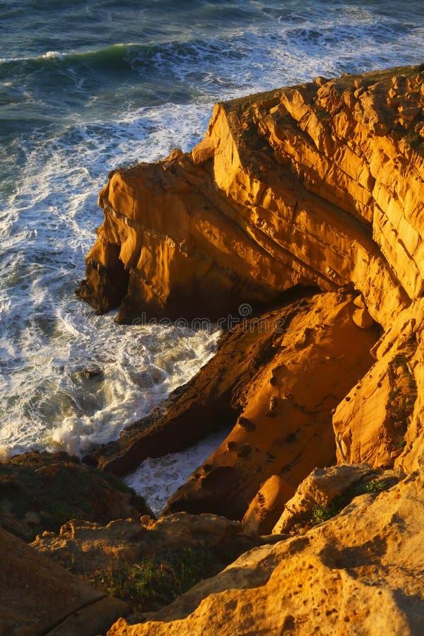 Côte marocaine chez l'Océan Atlantique image libre de droits