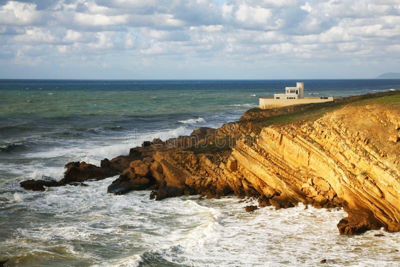 Côte marocaine, l'Océan Atlantique image libre de droits