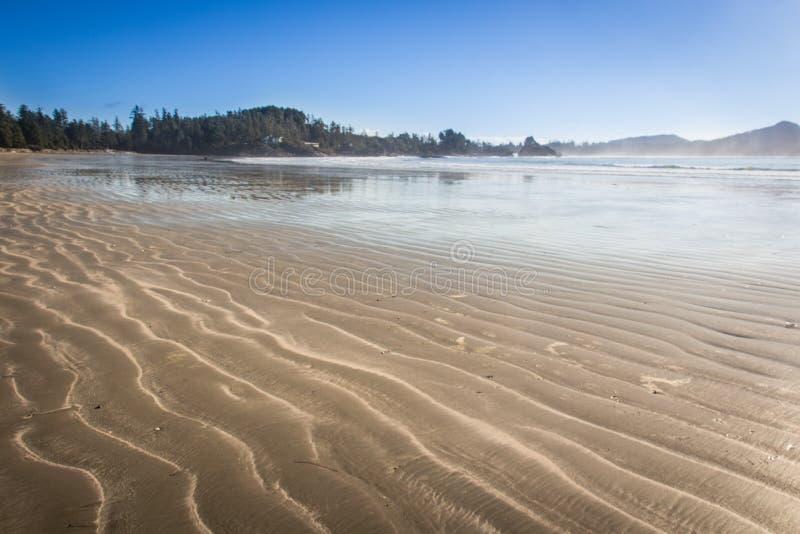 Côte ouest de plage de Tofino d'île de Vancouver images libres de droits