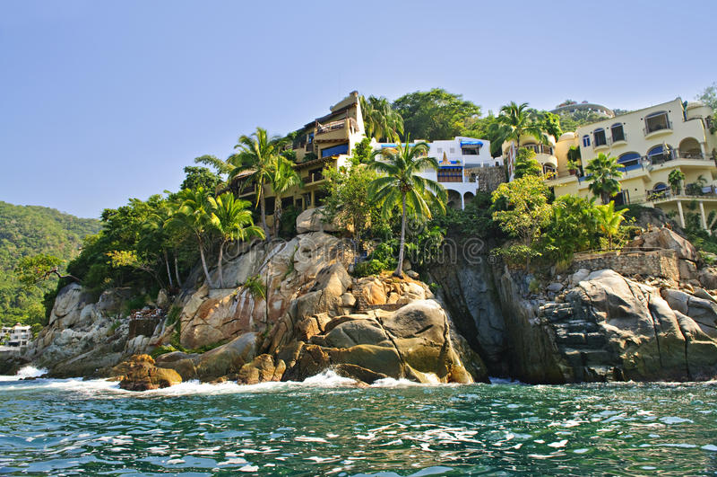 Côte Pacifique du Mexique photos libres de droits