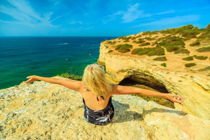 Côte Portugal d'Algarve photo libre de droits