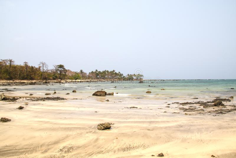 Côte près de Ngwe Saung, Myanmar photo stock