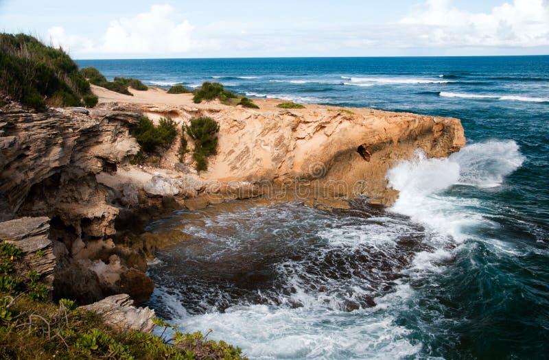 Côte raboteuse d'Hawaï photographie stock