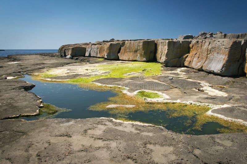 Côte rocheuse, Galway, Irlande photos libres de droits