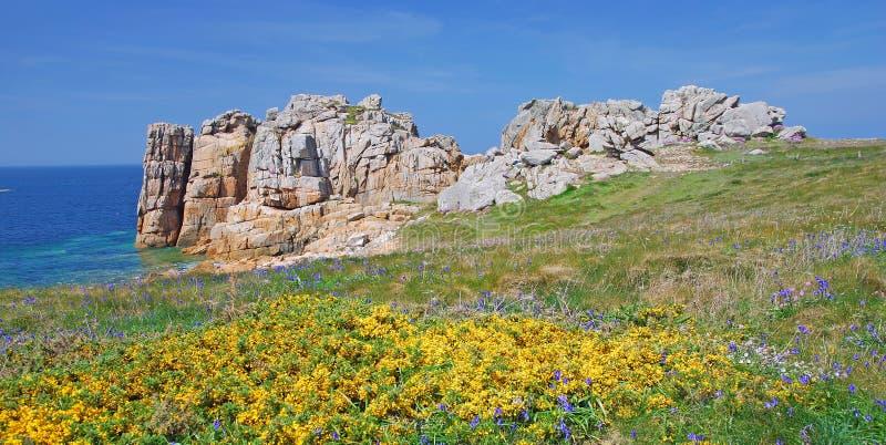 Côte rose de granit, Brittany photos libres de droits