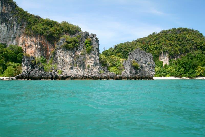 Côte tropicale d'île image libre de droits