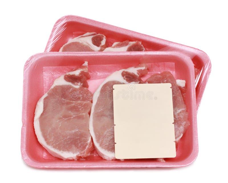 Côtelette de porc crue image stock
