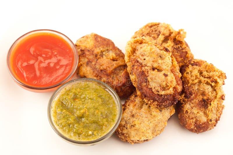 Côtelette de poulet ou de pomme de terre image stock