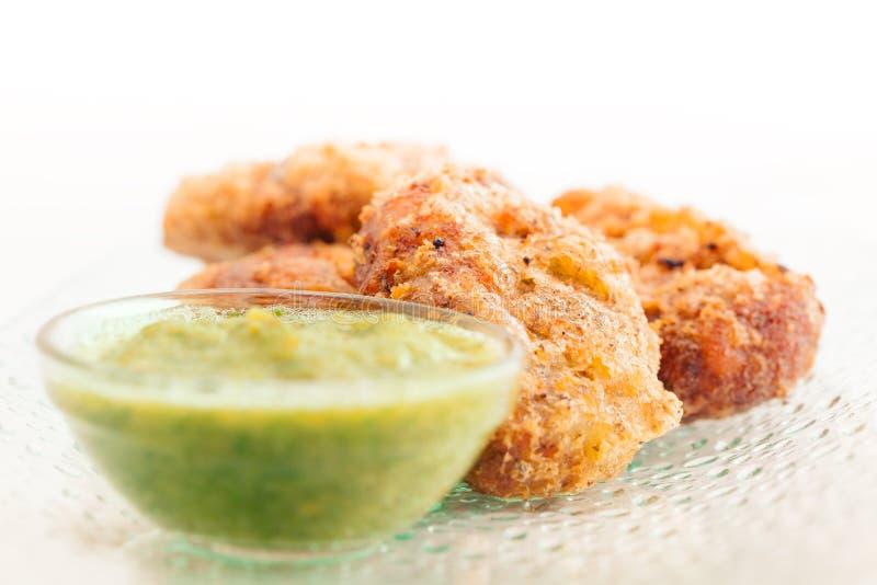 Côtelette de poulet ou de pomme de terre photographie stock