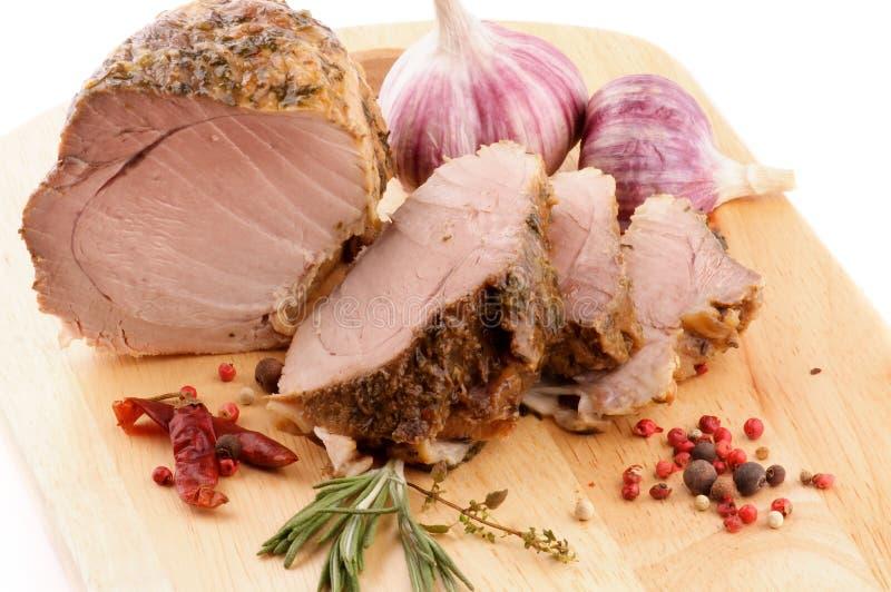 Côtelette rôtie de porc photo libre de droits