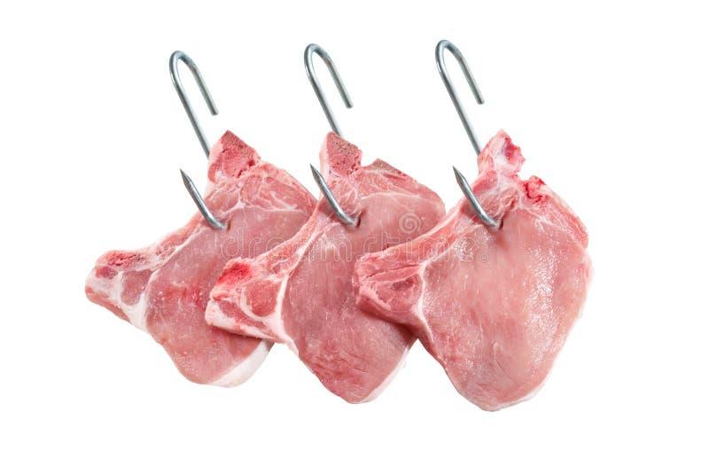 Côtelettes d'échine de porc images stock