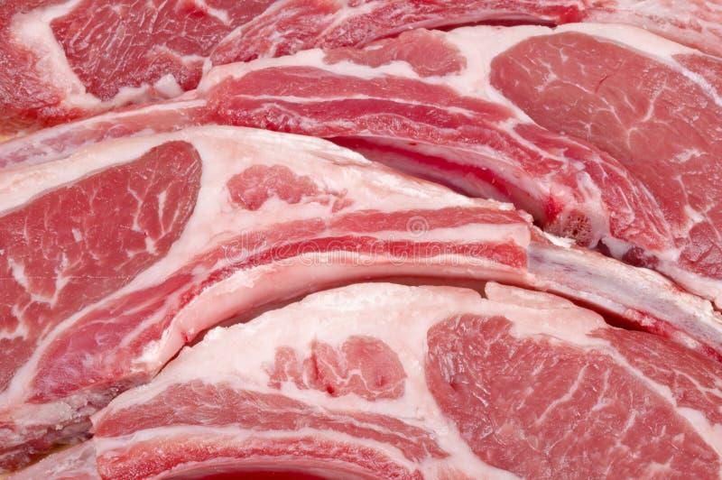Côtelettes d'agneau crues photos stock