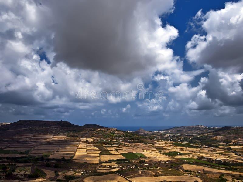 Côtes de Gozo photos libres de droits