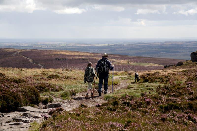 Côtes le Northumberland de Simonside photographie stock libre de droits